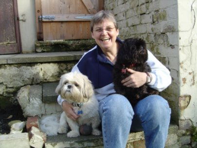 Elaine with her dogs